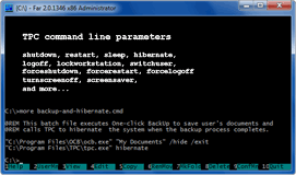 TPC command line - click to enlarge